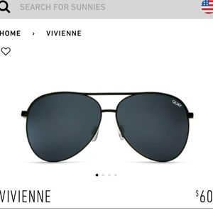 Quay Vivienne aviator sunglasses in black smoke